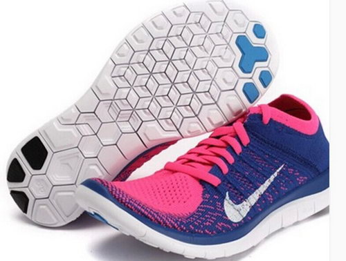 Nike Free Flyknit 4.0 Womens Shoes Pink Purple White Outlet Store
