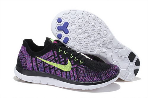 Nike Free Flyknit 4.0 Womens Shoes Purple Black Green Hot Japan