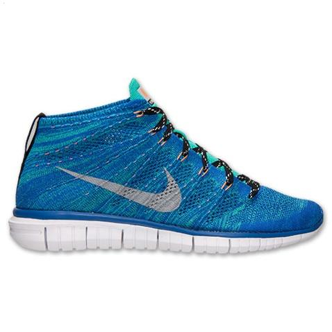 Nike Free Flyknit Chukka Mens Shoes Blue Silver Greece