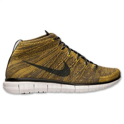 Nike Free Flyknit Chukka Mens Shoes Brown Black Reduced