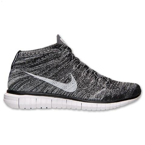 Nike Free Flyknit Chukka Mens Shoes Deep Gray Silver Online