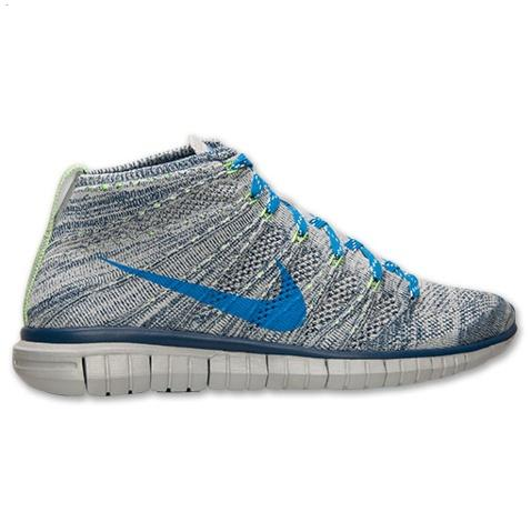 Nike Free Flyknit Chukka Mens Shoes Gray Blue Hong Kong