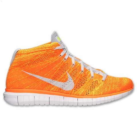 Nike Free Flyknit Chukka Mens Shoes Orange Silver France