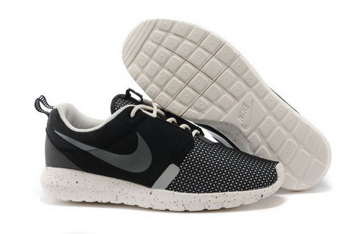 Nike Roshe Run Nm Br 3m Mens Running Shoes Soft Breathable Black Taiwan