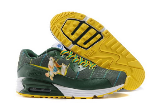 Nikeid Air Max 90 2014 World Cup National Team Womenss Shoes Brazil Green Yellow Discount