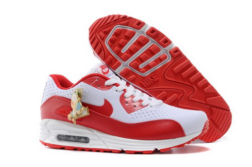 Nikeid Air Max 90 2014 World Cup National Team Womenss Shoes England White Red Denmark