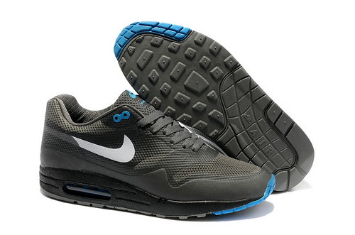 Nike Air Max 1 Hypefuse Men Gray Blue Running Shoes On Sale