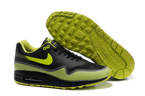Nike Air Max 1 Hypefuse Unisex Black Green Running Shoes Greece