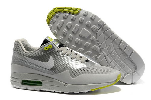 Nike Air Max 1 Hypefuse Unisex Gray Green Running Shoes Reduced