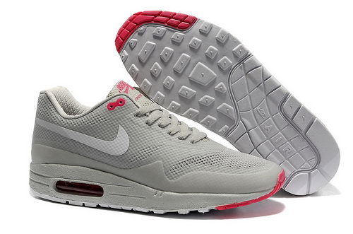 Nike Air Max 1 Hypefuse Unisex Gray Red Running Shoes Online