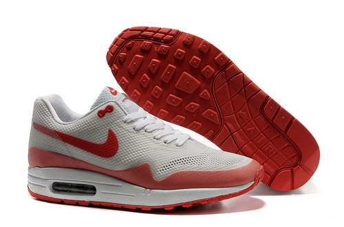 Nike Air Max 1 Hypefuse Unisex White Red Running Shoes France