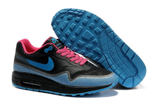 Nike Air Max 1 Hypefuse Women Black Blue Running Shoes Italy