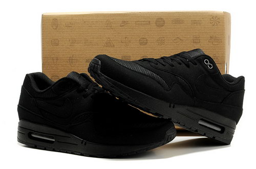 Nike Air Max 1 Men All Black Running Shoes Taiwan