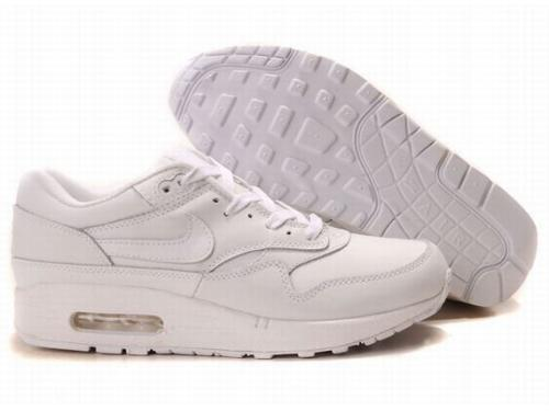 Nike Air Max 1 Men All White Running Shoes Norway