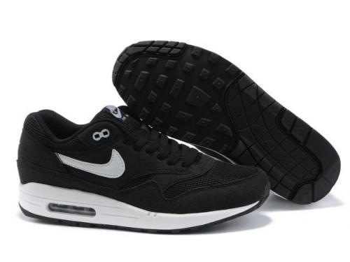 Nike Air Max 1 Men Black White Running Shoes Factory Outlet