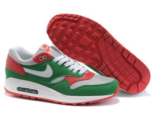 Nike Air Max 1 Men Green Red Running Shoes Sweden