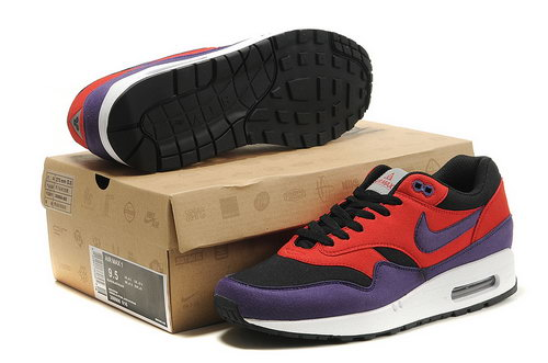 Nike Air Max 1 Men Red Purple Running Shoes Canada