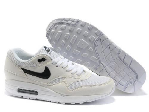 Nike Air Max 1 Men White Black Running Shoes Poland