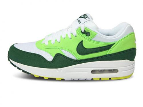 Nike Air Max 1 Mens Green White Yellow Promo Code