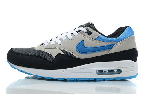 Nike Air Max 1 Mens Grey Navy Blue Korea
