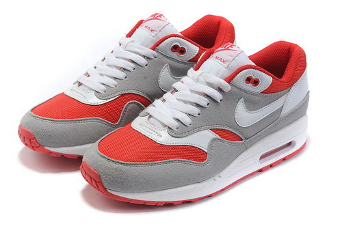 Nike Air Max 1 Mens Grey Red Closeout