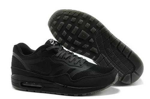 Nike Air Max 1 Prm Tape Unisex All Black Sports Shoes Sweden