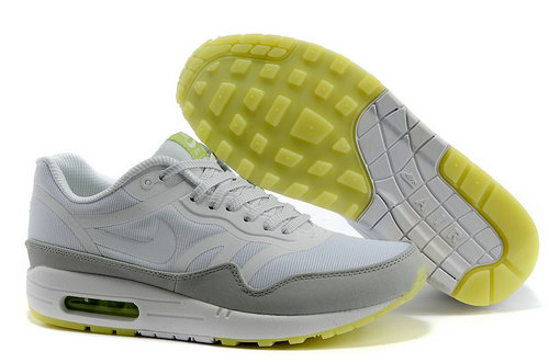 Nike Air Max 1 Prm Tape Unisex White Gray Sports Shoes Canada
