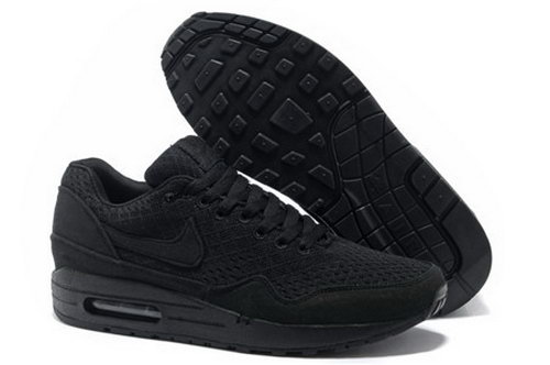 Nike Air Max 1 Unisex All Black Running Shoes Uk