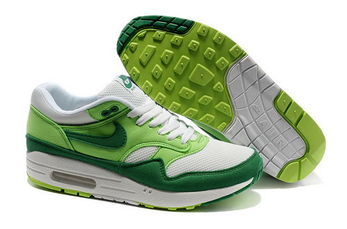 Nike Air Max 1 Unisex Green White Running Shoes Sale