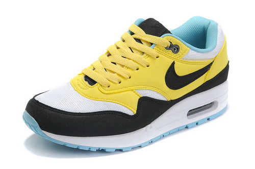 Nike Air Max 1 Womens Black Yellow Blue Promo Code