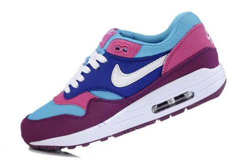 Nike Air Max 1 Womens White Red Blue Online