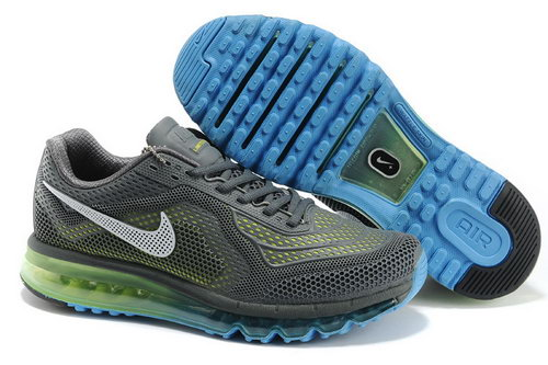 Nike Air Max 2014 Grey White Blue Green Factory Outlet