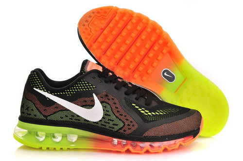 Nike Air Max 2014 Mens Shoes Black Orange Green White Factory