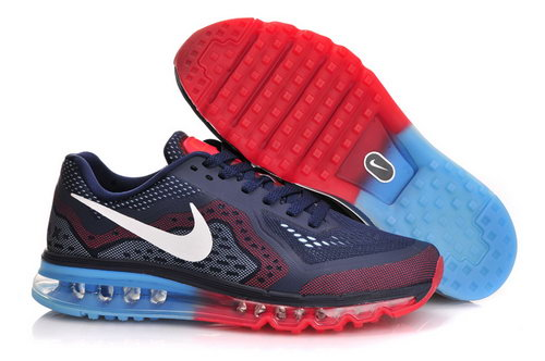 Nike Air Max 2014 Navy Blue Red White Men Shoes Wholesale