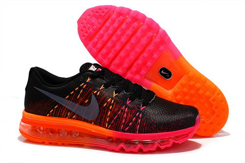 Nike Air Max 2014 Womens Shoes Black Orange Red Silver Factory Store