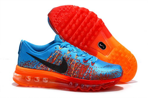 Nike Air Max 2014 Womens Shoes Blue Orange Red Orange Outlet Online