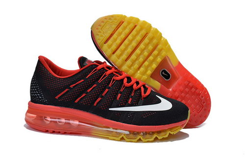 Nike Air Max 2016 Womens Red Black Yellow For Sale