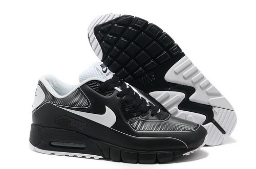 Nike Air Max 90 Current Vt Lsr Unisex Black White Running Shoes Canada