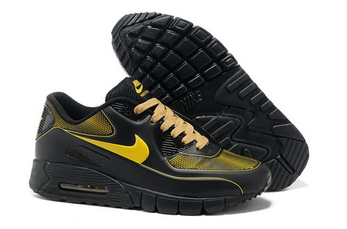 Nike Air Max 90 Current Vt Lsr Unisex Black Yellow Running Shoes Uk