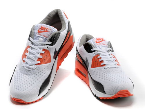 Nike Air Max 90 Em Mens Black White Orange Outlet Online