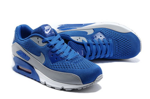 Nike Air Max 90 Em Womens Blue Grey Low Price