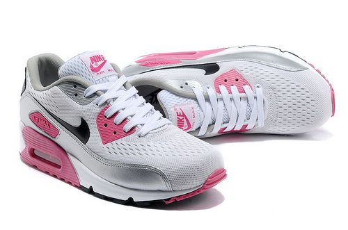 Nike Air Max 90 Em Womens Engineered Mesh Pink Silver Uk