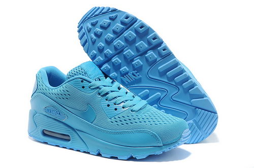 Nike Air Max 90 Em Unisex All Blue Sports Shoes Sweden