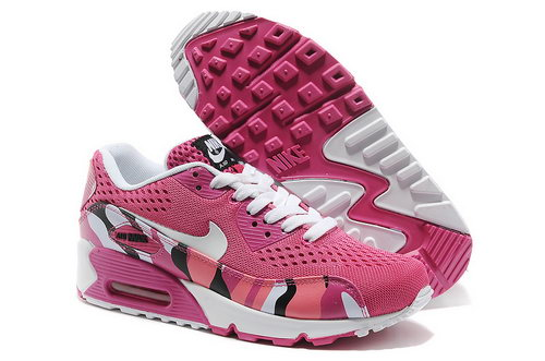 Nike Air Max 90 Em Women Pink And White Sports Shoes Spain