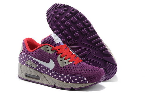 Nike Air Max 90 Em Women Purple White Running Shoes Factory Outlet
