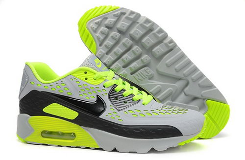 Nike Air Max 90 Hyp Prm Mens Shoes 2015 Light Gray Green Black Hot Reduced