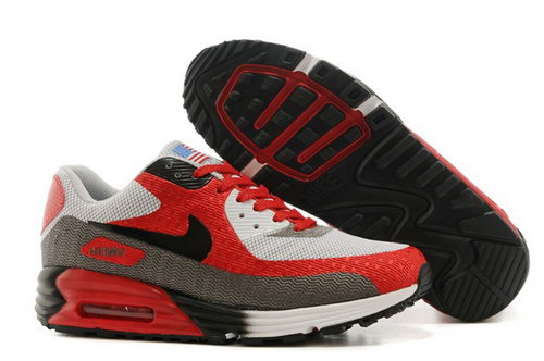 Nike Air Max 90 Hyp Prm Mens Shoes High Inside Red Gray Black Hot Inexpensive