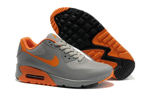 Nike Air Max 90 Hyp Frm Men Gray Orange Running Shoes Outlet Store