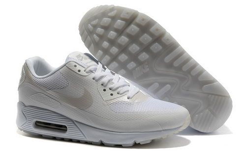 official photos 3563c 98874 Nike Air Max 90 Hyp Frm Unisex All White Running Shoes Poland
