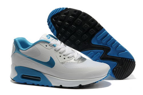 Nike Air Max 90 Hyp Frm Unisex White Blue Running Shoes Wholesale